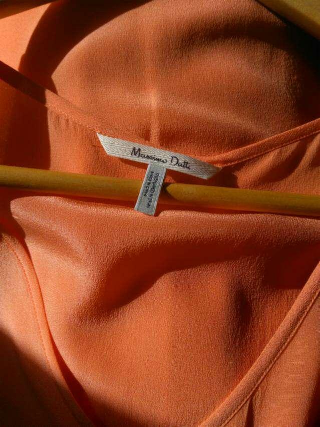 Imagen producto Top seda naranja de Massimo Dutti T.XS 3