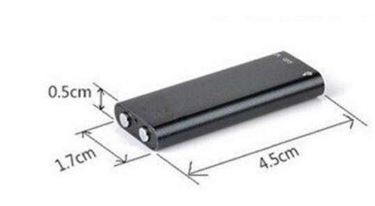 Imagen producto Mini grabadora 8gb profesional dictafono mp3. 2