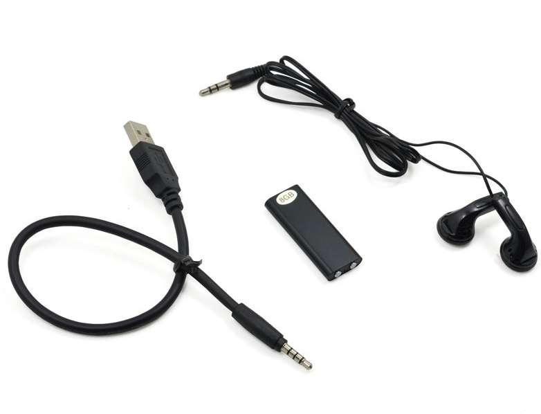 Imagen producto Mini grabadora 8gb profesional dictafono mp3. 4