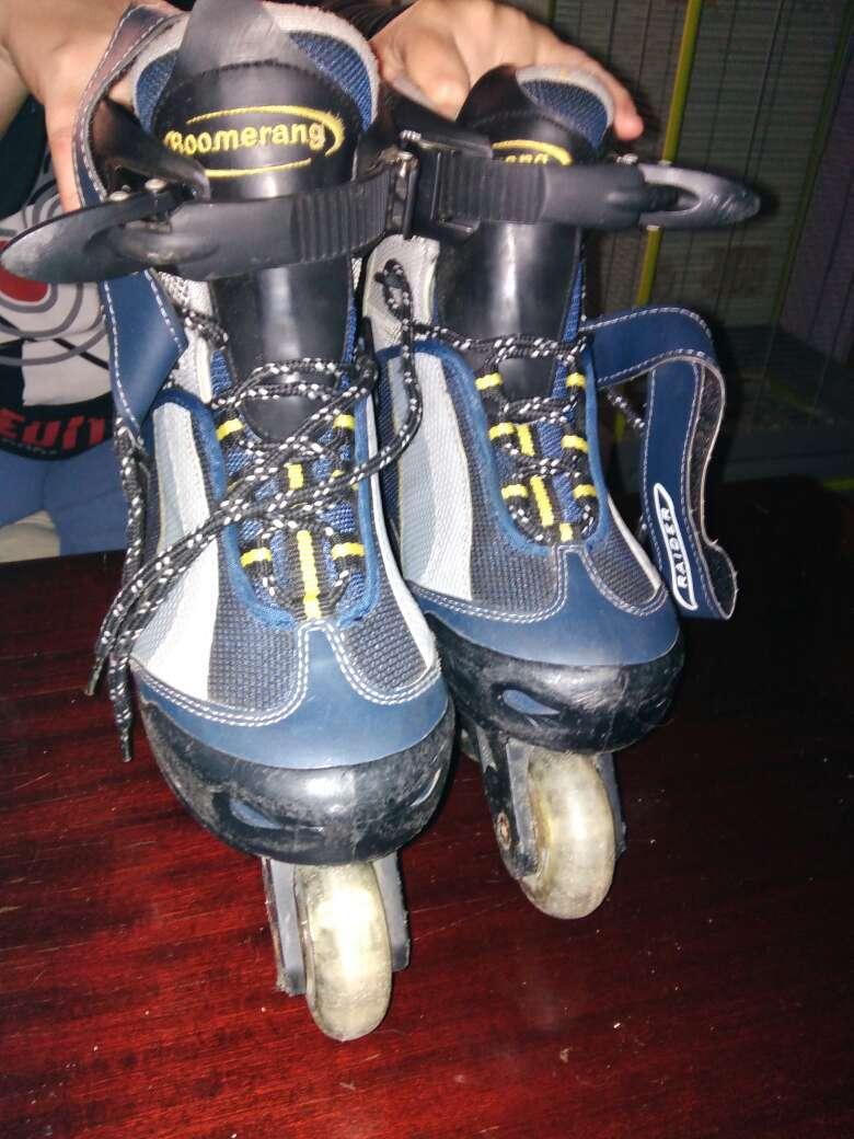 Imagen patines con ruedas en línea