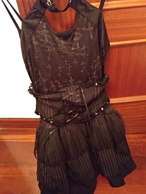 Imagen producto Vestido gótico talla 38/40 3