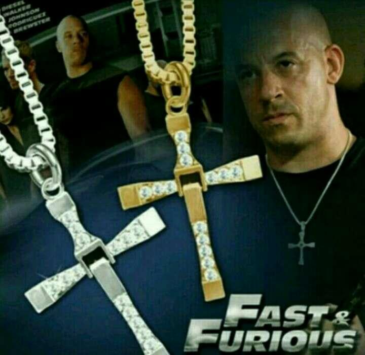 Imagen Colgante con Cadena de Dominic Toretto, Dorado o Plateado, a estrenar