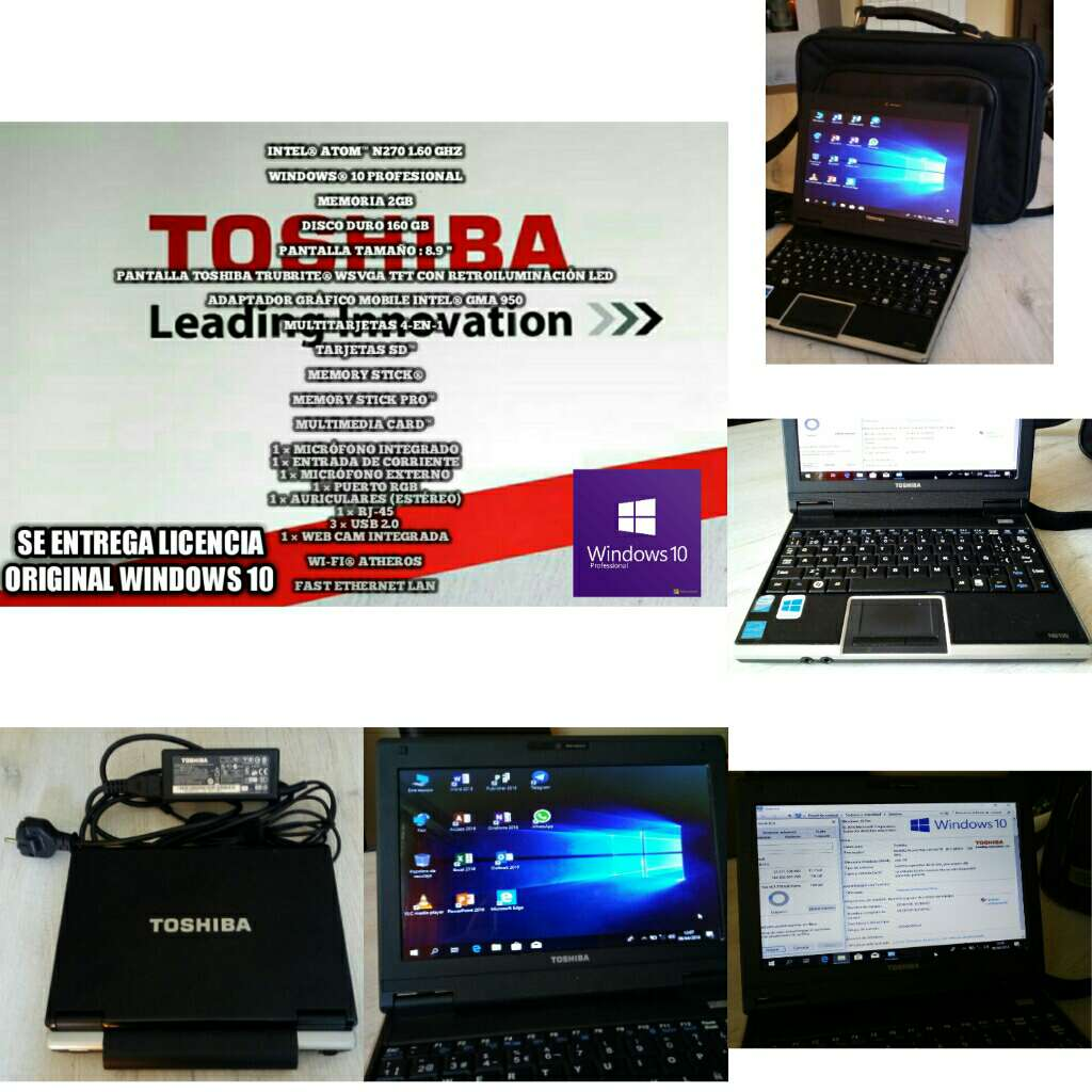 Imagen Ordenador Portátil Toshiba Windows 10 ( Se entrega Licencia )