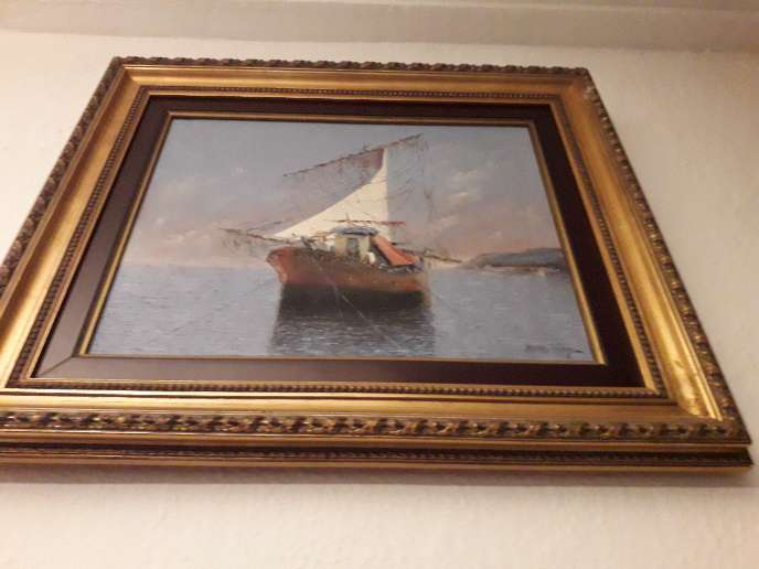 Imagen cuadro pintura firma