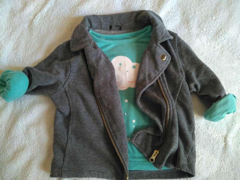Imagen chaqueta y camiseta niña