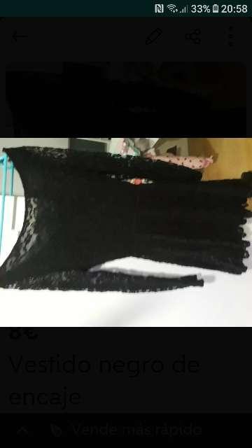 Imagen vestido encaje negro