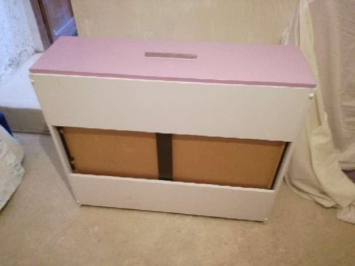Imagen producto Cama de niña blanco-lila con 3 cajones bajo la cama 3