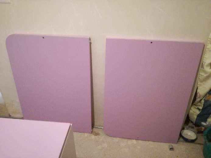 Imagen producto Cama de niña blanco-lila con 3 cajones bajo la cama 2