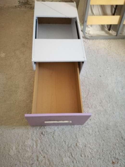 Imagen producto Cama de niña blanco-lila con 3 cajones bajo la cama 6