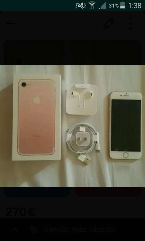 Imagen producto IPhone 7, color rosa 1
