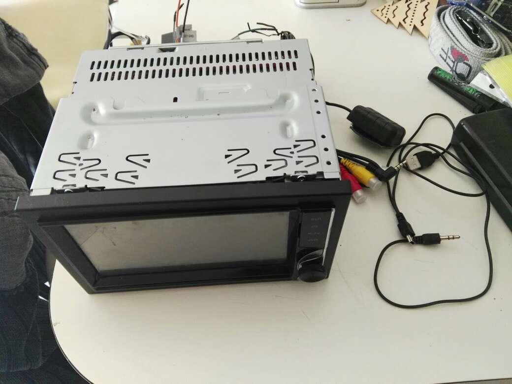 Imagen pantalla tactil para el coche con mando a distancia