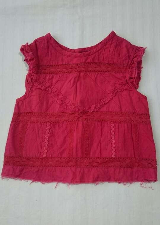 Imagen blusa bebé roja