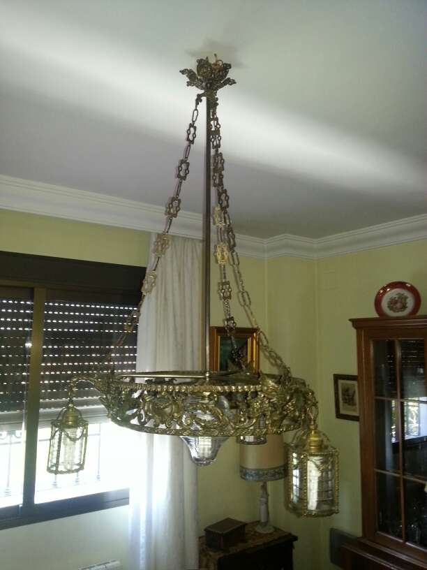 Imagen lampara de bronce