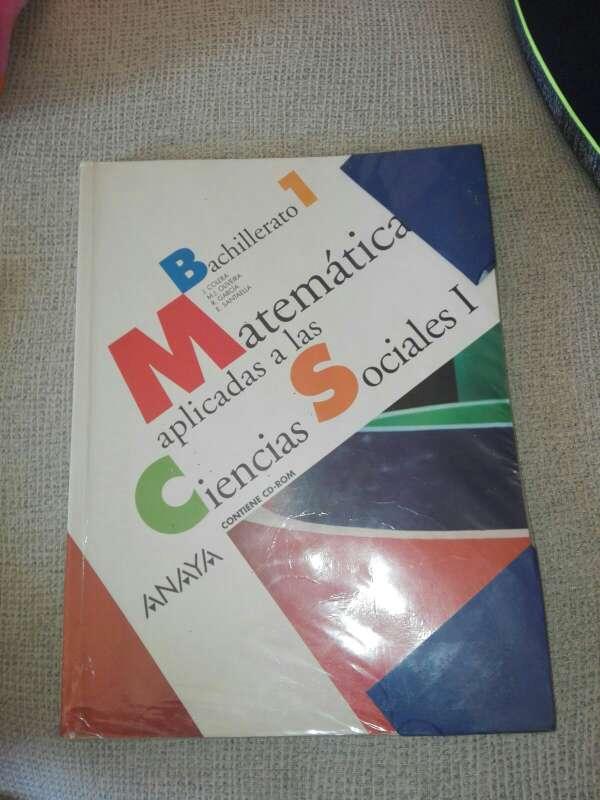 Imagen Matemáticas 1° bachillerato  aplicadas a las ciencias sociales
