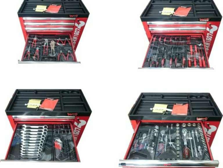 Imagen producto Carro de herramientas wurzburg profesional con 7 departamentos. 160 herramientas 3