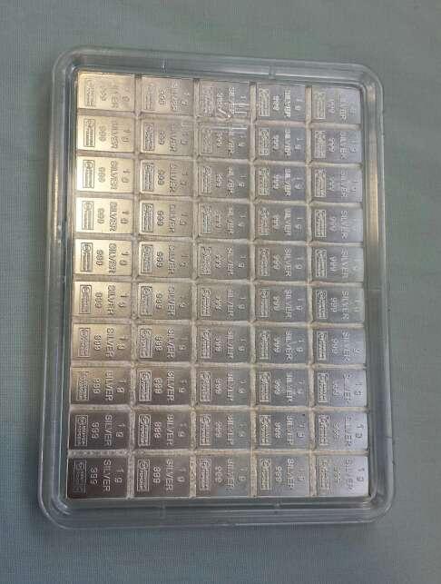 Imagen Caja de plata pura 999 de 50 gramos