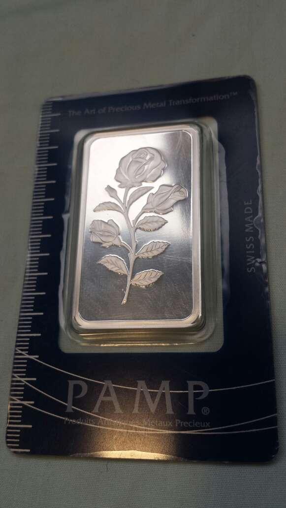 Imagen Flor PAMP suisse onza troy plata 999