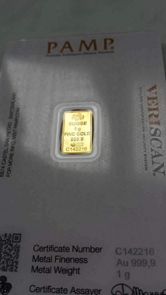 Imagen producto Oro puro 999 PAMP suisse 1 gramo  4