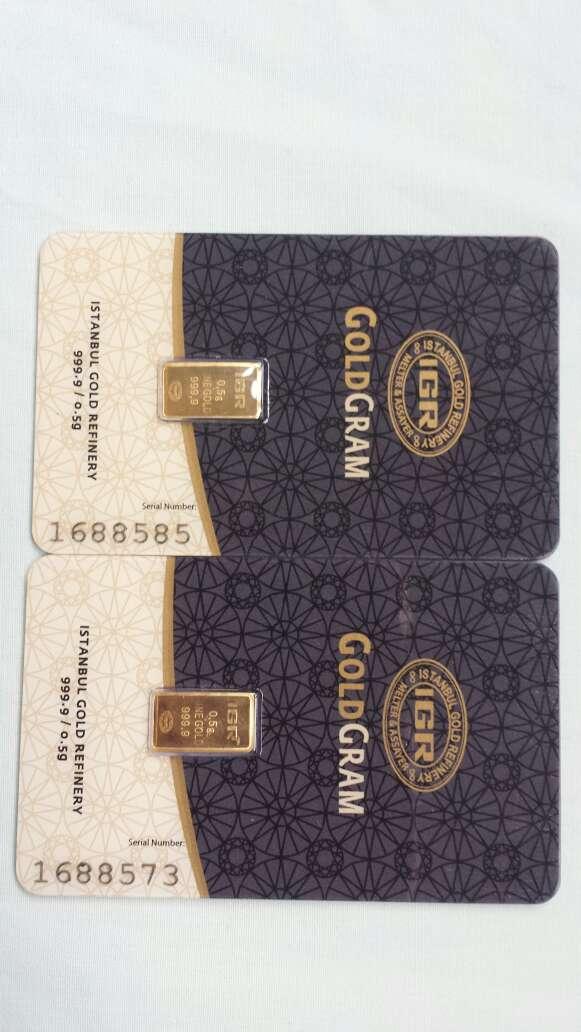 Imagen Lingote de oro puro 999 IGR 0,50 gramos