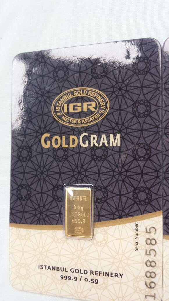 Imagen producto Lingote de oro puro 999 IGR 0,50 gramos  2