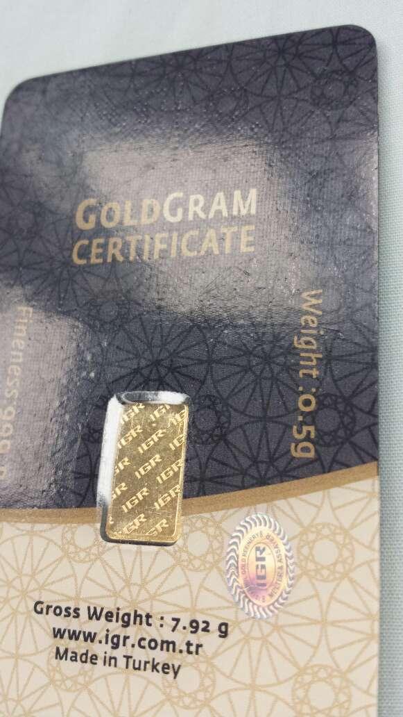 Imagen producto Lingote de oro puro 999 IGR 0,50 gramos  3