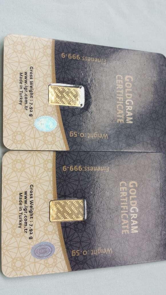 Imagen producto Lingote de oro puro 999 IGR 0,50 gramos  4
