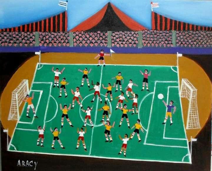 Imagen Aracy tema futebol medida 50x70