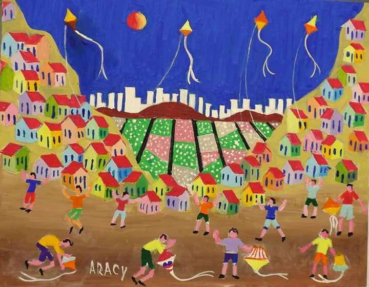 Imagen Aracy tema meninos empinando pipas medida 40x50