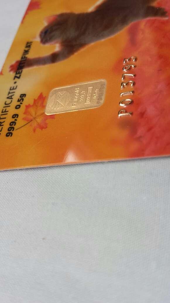 Imagen producto Lingote de oro puro 999 0,50 gramos  2