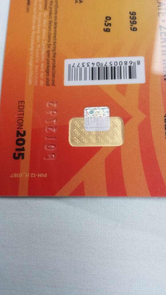 Imagen producto Lingote de oro puro 999 0,50 gramos  4
