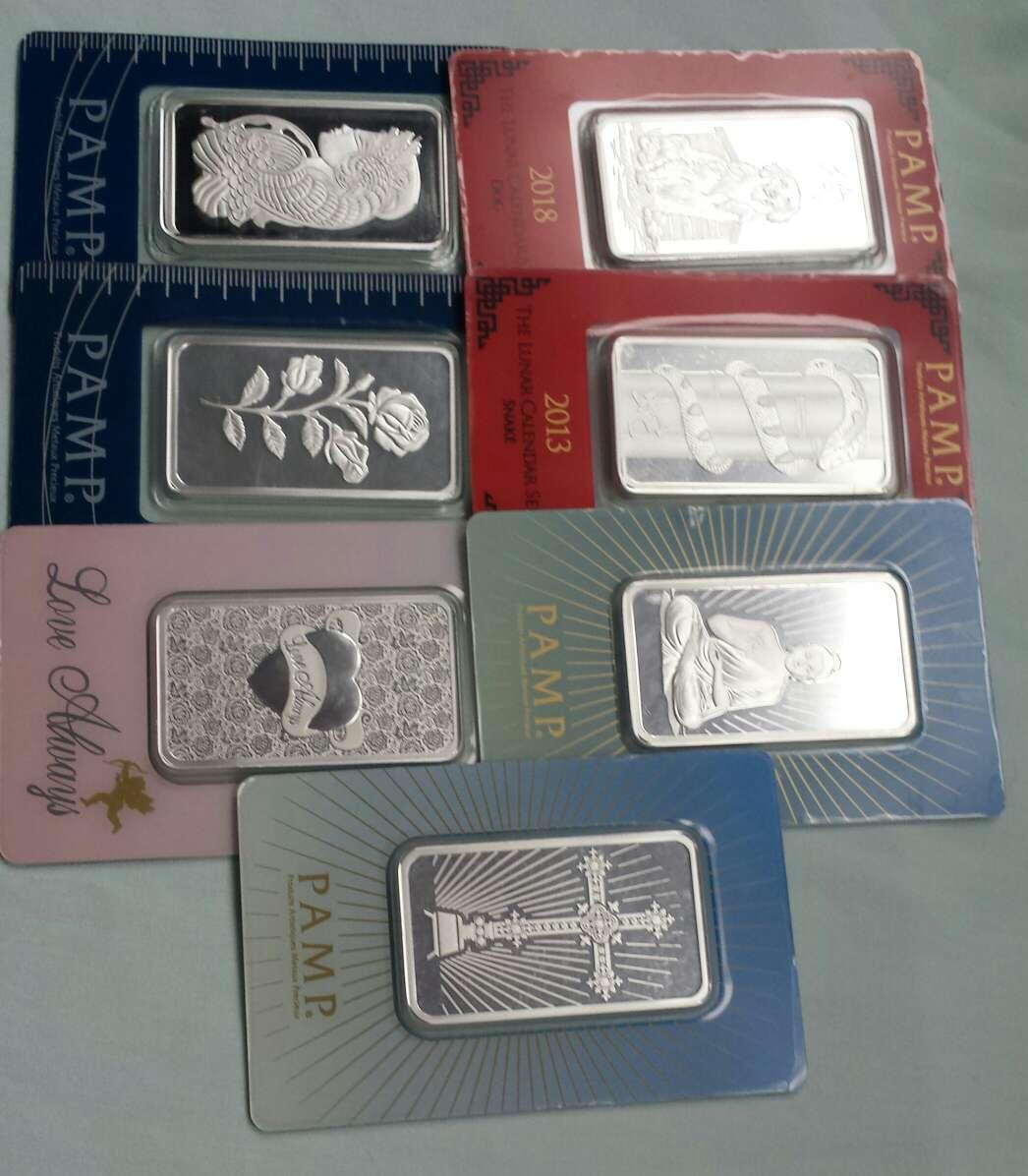 Imagen producto Lingotes de plata pura 999 PAMP SUISSE ( 3 lingotes de 1 onza troy ) 2