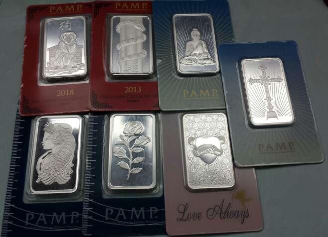 Imagen Lingotes de plata pura 999 PAMP SUISSE ( 3 lingotes de 1 onza troy )