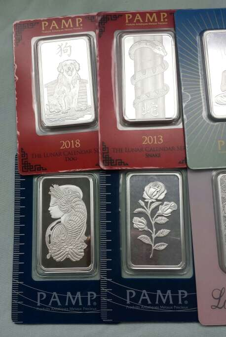 Imagen producto Lingotes de plata pura 999 PAMP SUISSE ( 3 lingotes de 1 onza troy ) 3