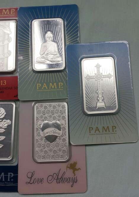 Imagen producto Lingotes de plata pura 999 PAMP SUISSE ( 3 lingotes de 1 onza troy ) 4
