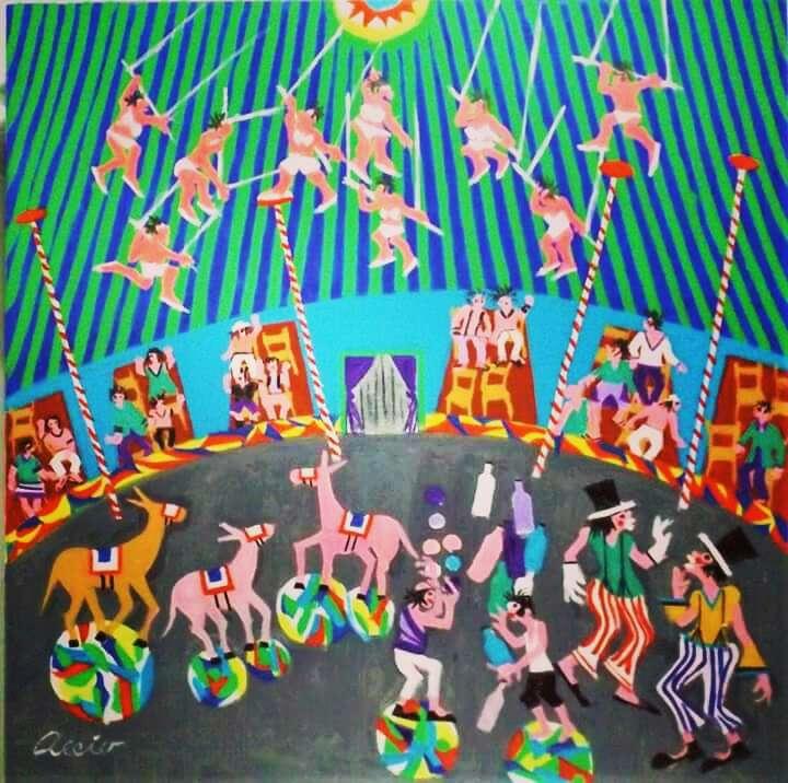 Imagen aecio tema circo brasil medida 60x60