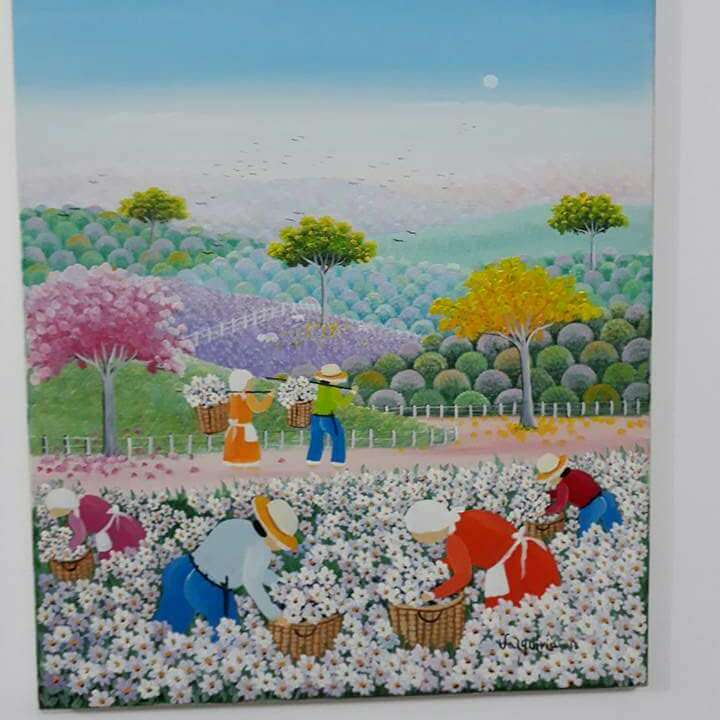 Imagen valquiria barros tema colheita de flores medida 40x50