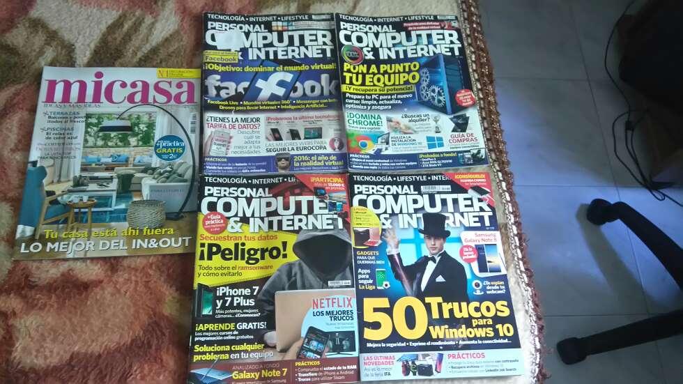 Imagen revistas personal computer e internet y mi casa