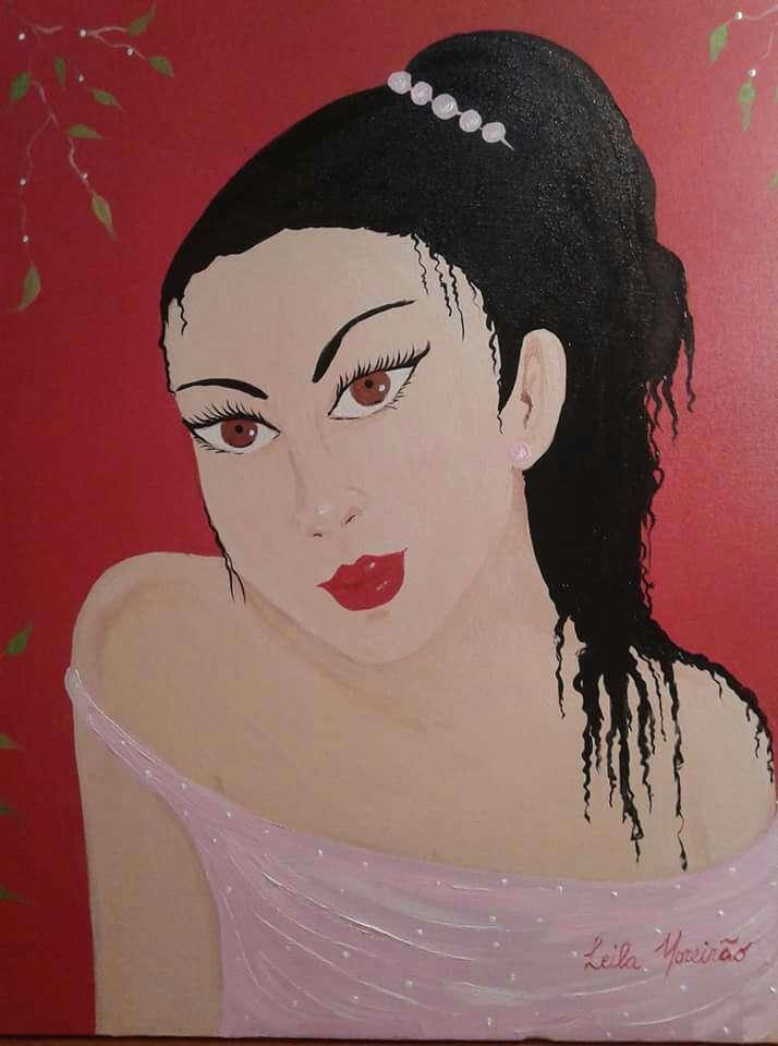 Imagen Leila Moreirao artista naif medida 40x50