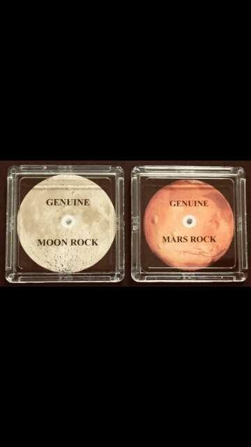 Imagen meteoritos luna y marte
