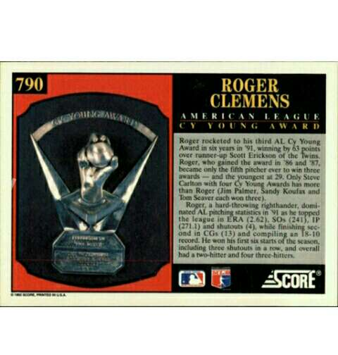 Imagen producto Rogers Clemens Baseball cromo/cards. 2