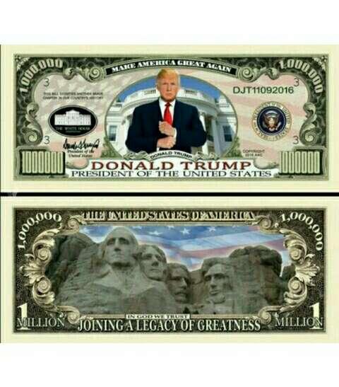 Imagen Billete Donald Trump. Presidente EEUU -