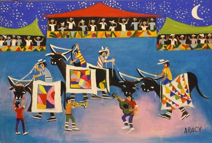 Imagen Aracy tela festa do boi bumba medida 50x40