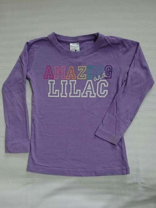 Imagen producto Camiseta lila niña  1