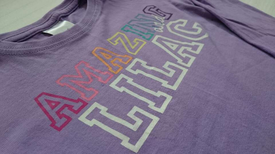 Imagen producto Camiseta lila niña  2