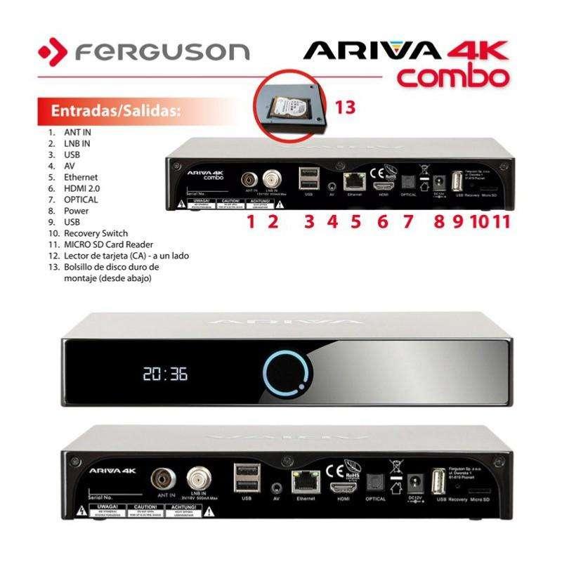 Imagen producto Ferguson Ariva 4K Combo SAT+TDT Android  2
