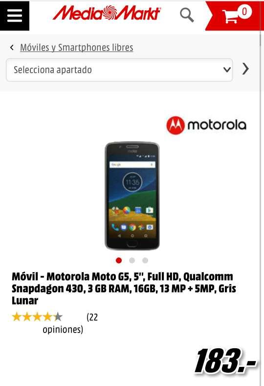 Imagen producto HURGEEE!! Motorola moto g5 3gb 16 gb nuevo  6