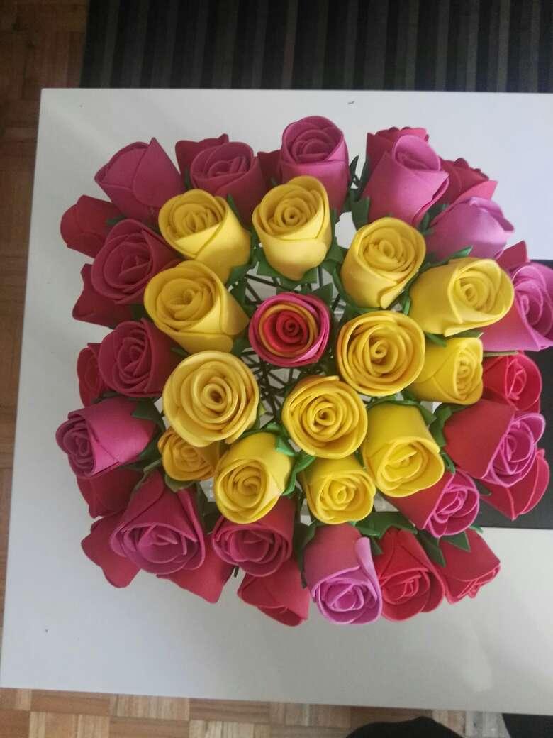 Imagen Flores de goma eva perfumadas