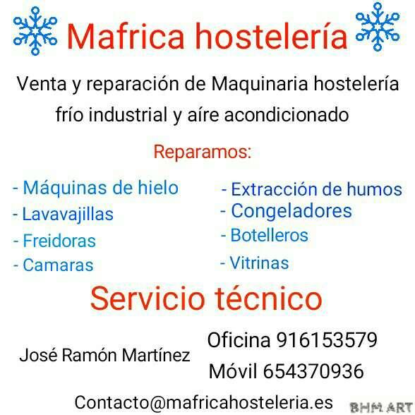 Imagen Servicio técnico de maquinaría hostelería y alimentación , frío industrial