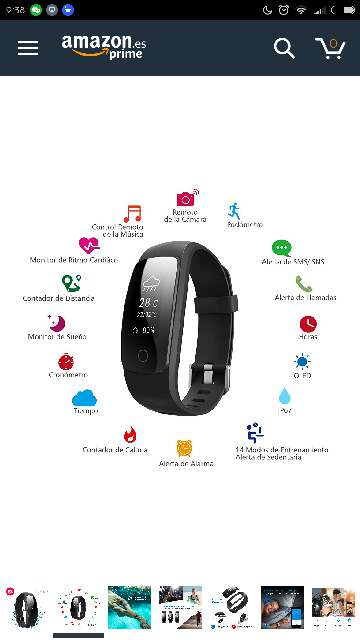 Imagen pulsera reloj actividad