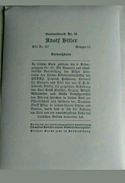 Imagen producto A. Hitler.Fotografía de la II MG.  2
